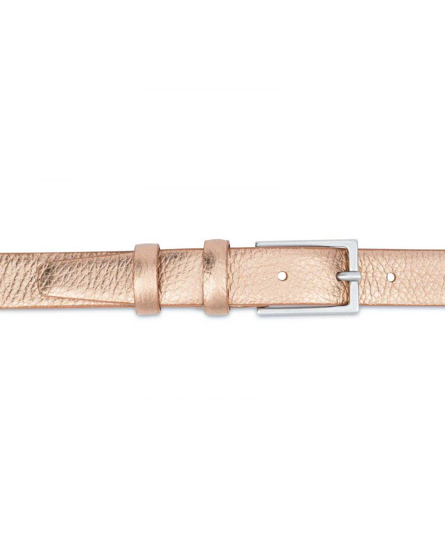 Wedding-Dress-Belt-Rose-Gold-Thin-1-inch-On-body
