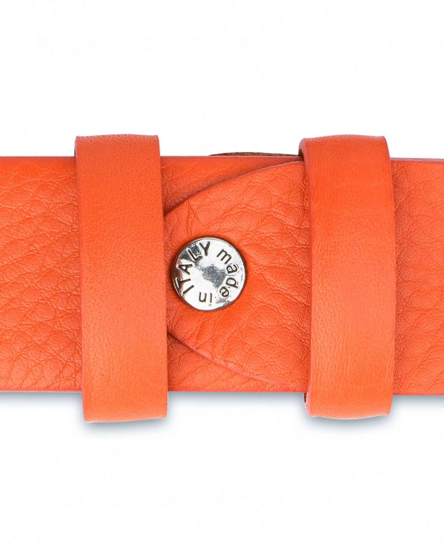 Western-Belt-For-Women-Soft-Orange-Leather-Cowgirl