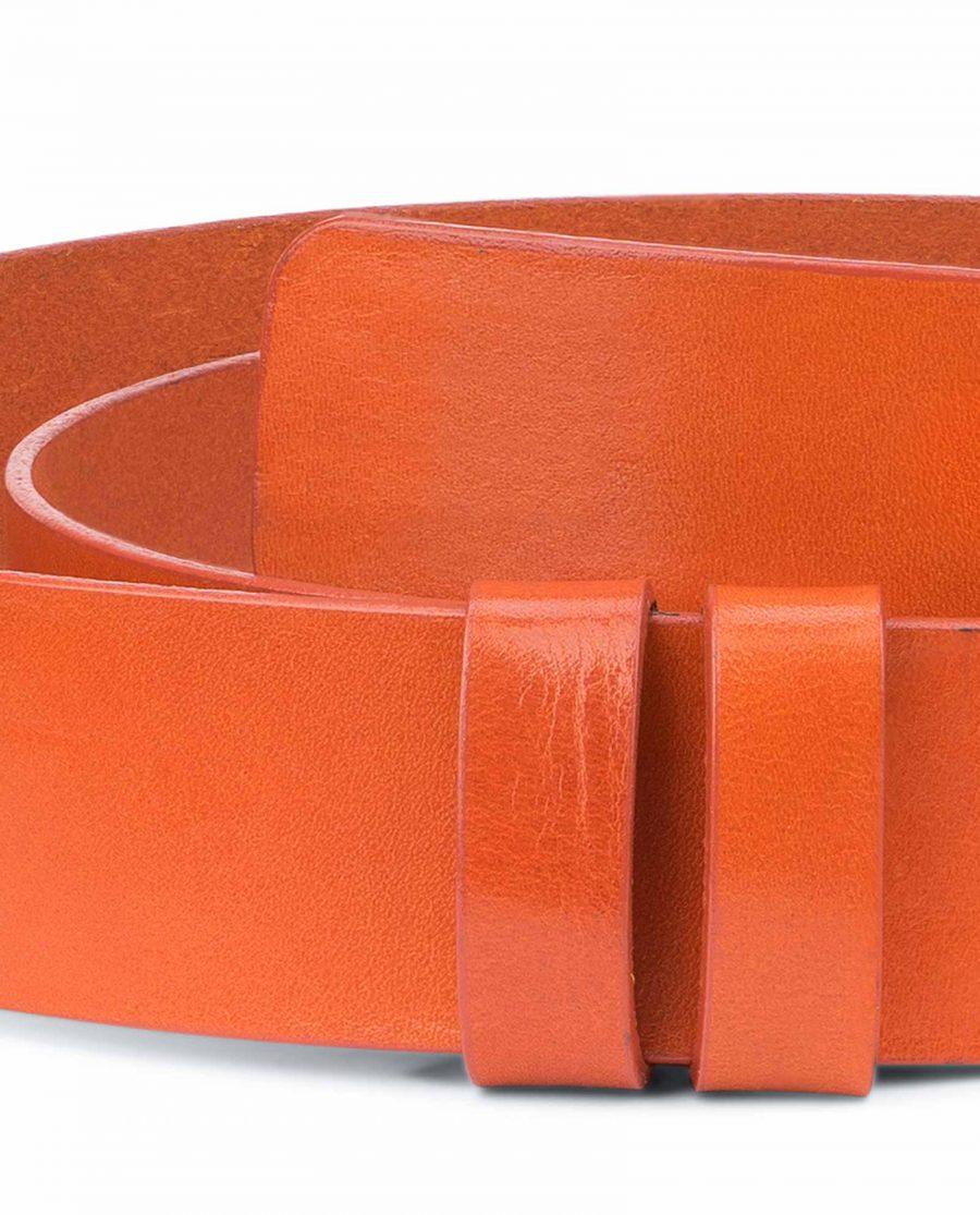 Wide-Belt-No-Buckle-Brown-Veg-Tan-Leather-Mens