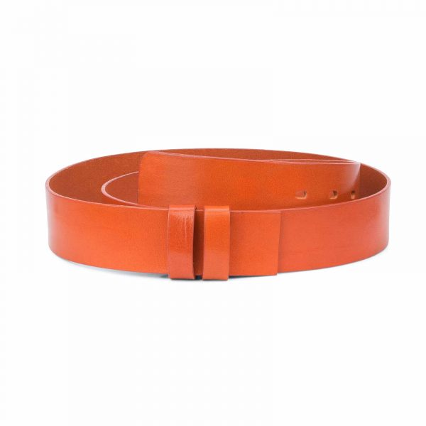 Wide-Belt-No-Buckle-Brown-Veg-Tan-Leather-Replacement