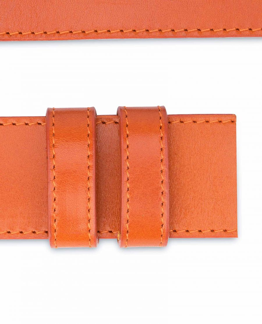 Wide-Belt-Without-Buckle-Vegetable-Tanned-Leather-Loops