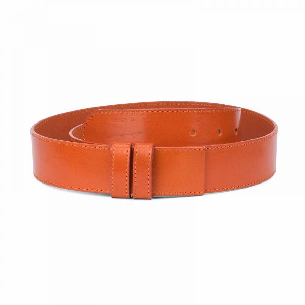 Wide-Belt-Without-Buckle-Vegetable-Tanned-Leather-Replacement-strap