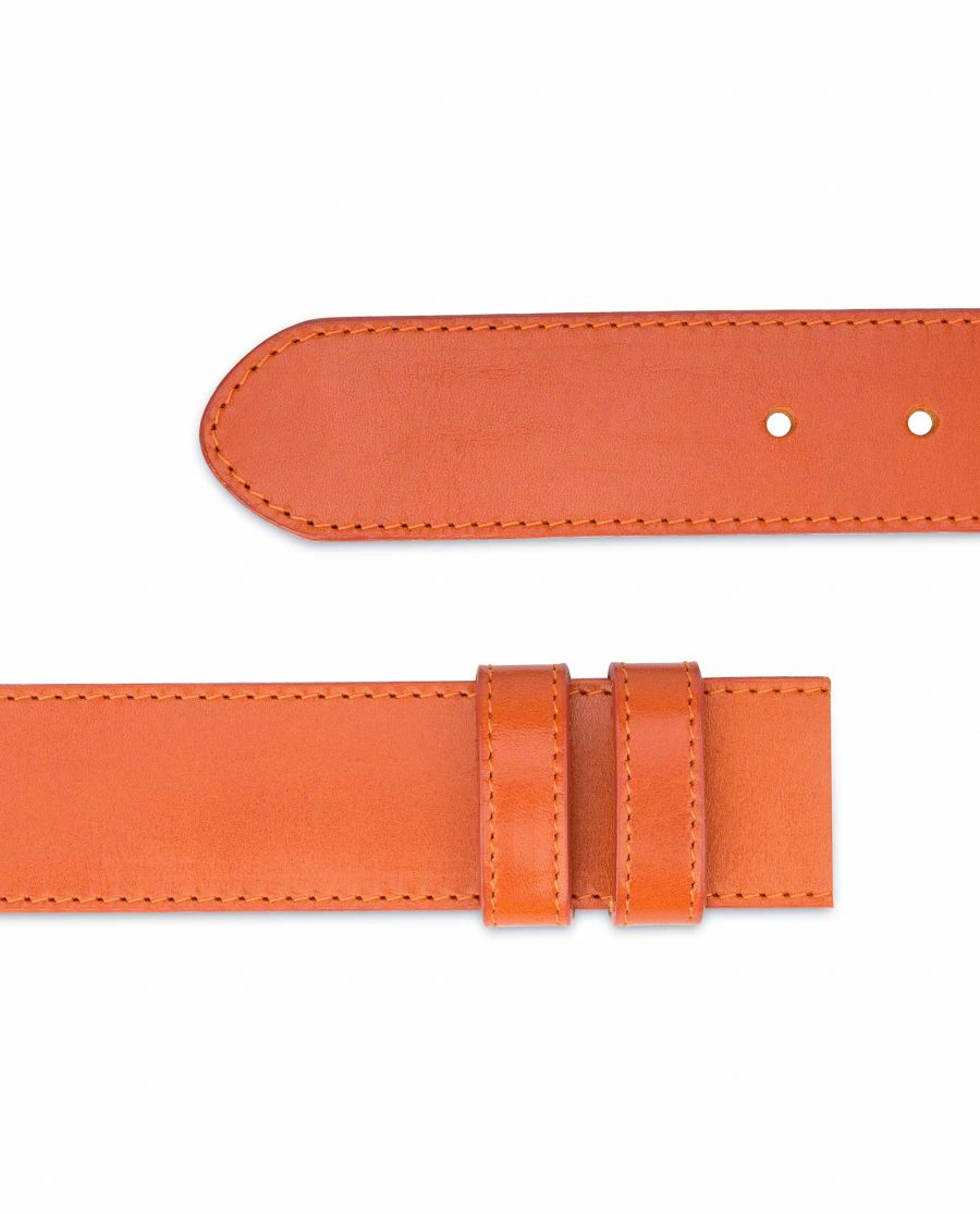 Wide-Belt-Without-Buckle-Vegetable-Tanned-Leather-Smooth