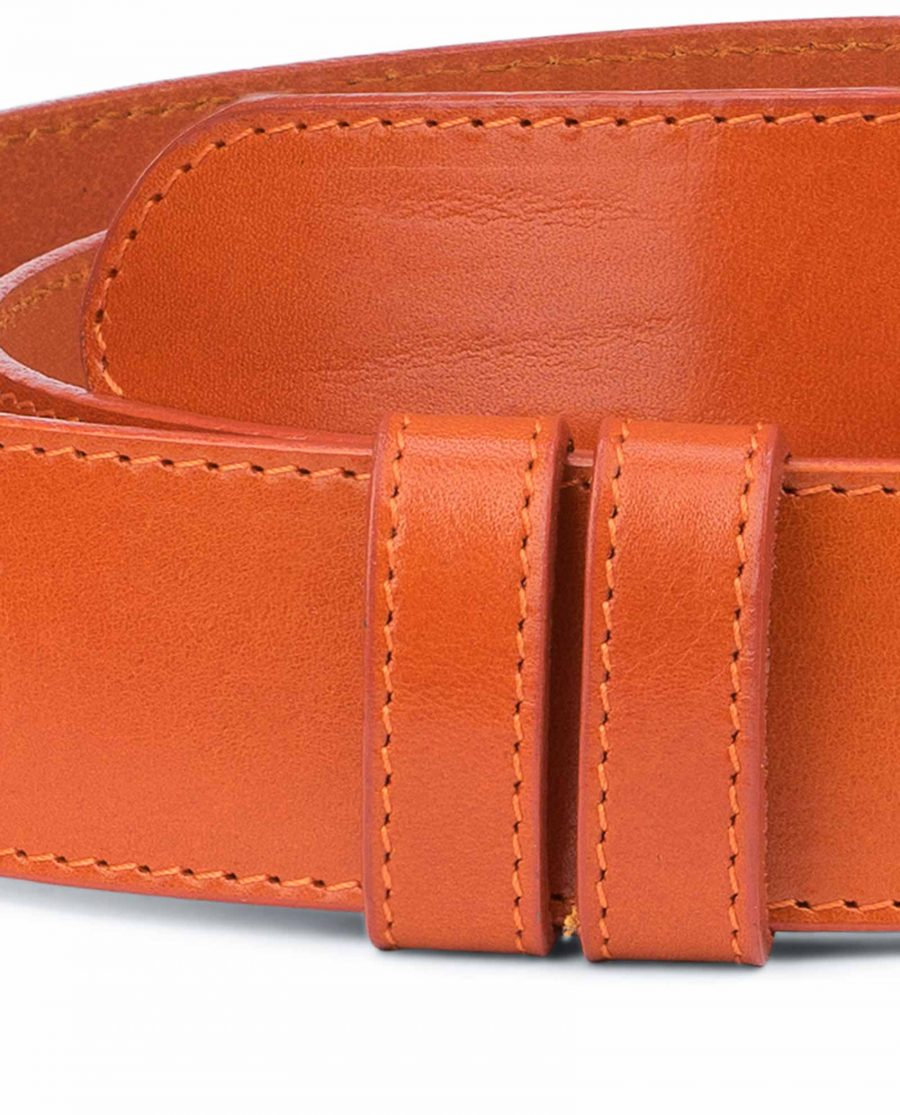 Wide-Belt-Without-Buckle-Vegetable-Tanned-Leather-With-stitching