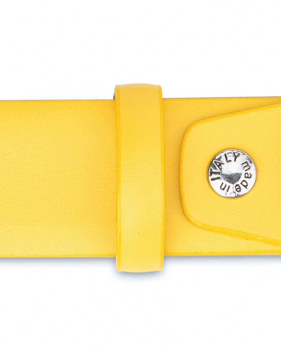 Yellow-Western-Belt-For-Ladies-With-Buckle-Smooth-leather