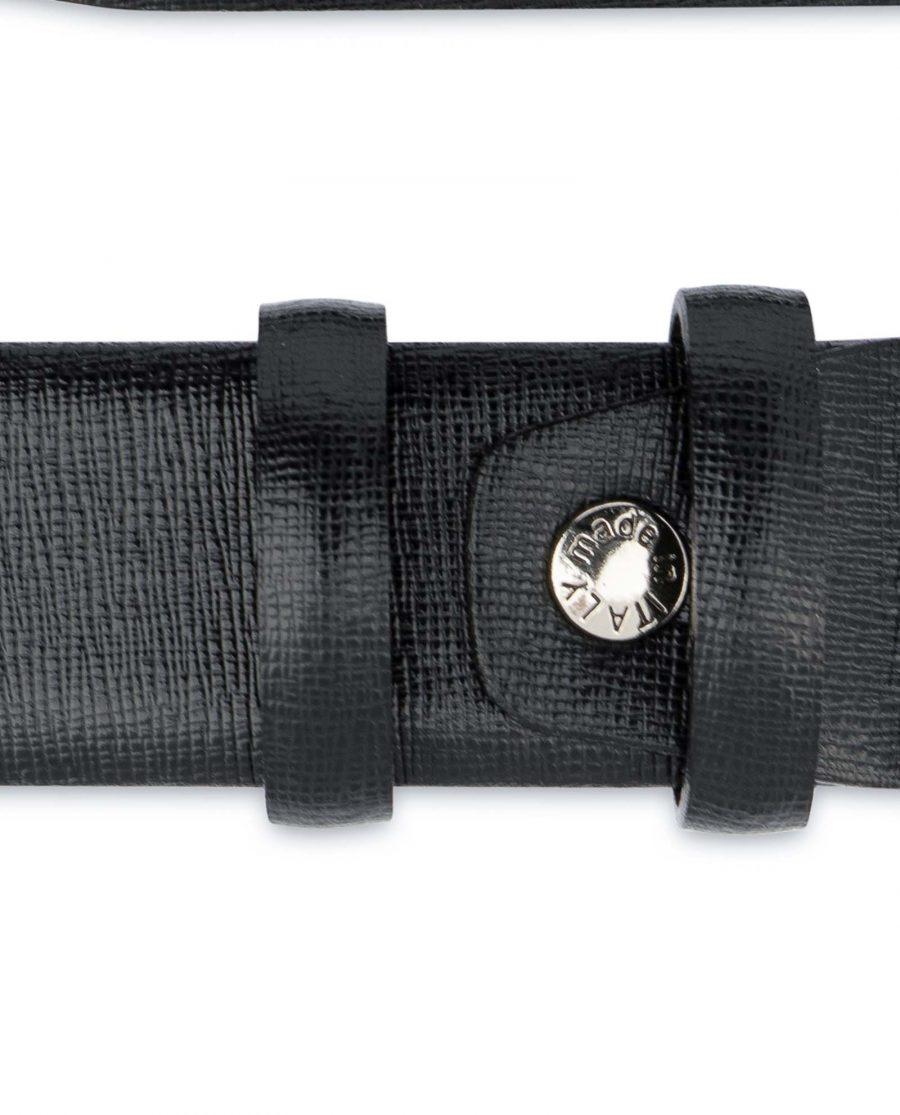Black-Mens-Dress-Belt-Saffiano-Leather-Screw