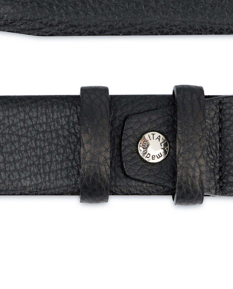 Black-Mens-Dress-Belt-Soft-Pebble-Leather-Screw