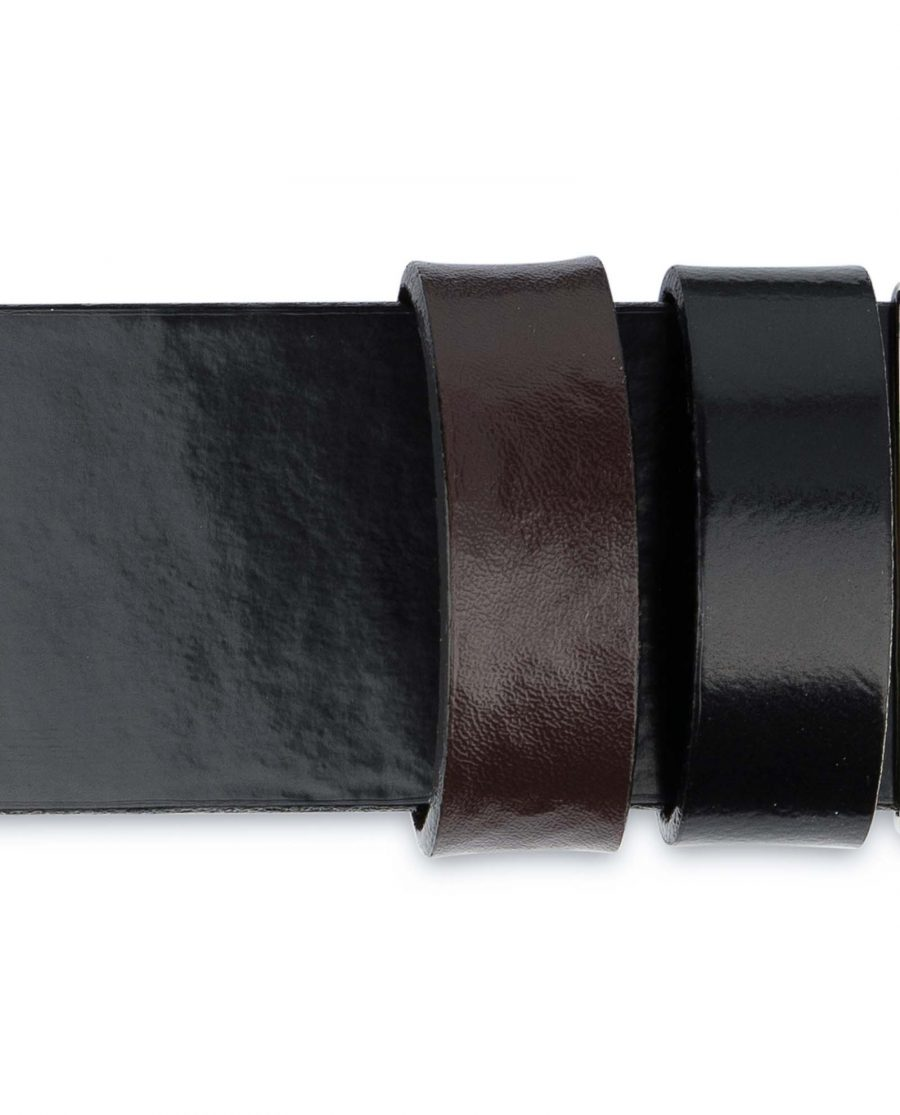 Black-Patent-Leather-Belt-Mens-Reversible-Loops