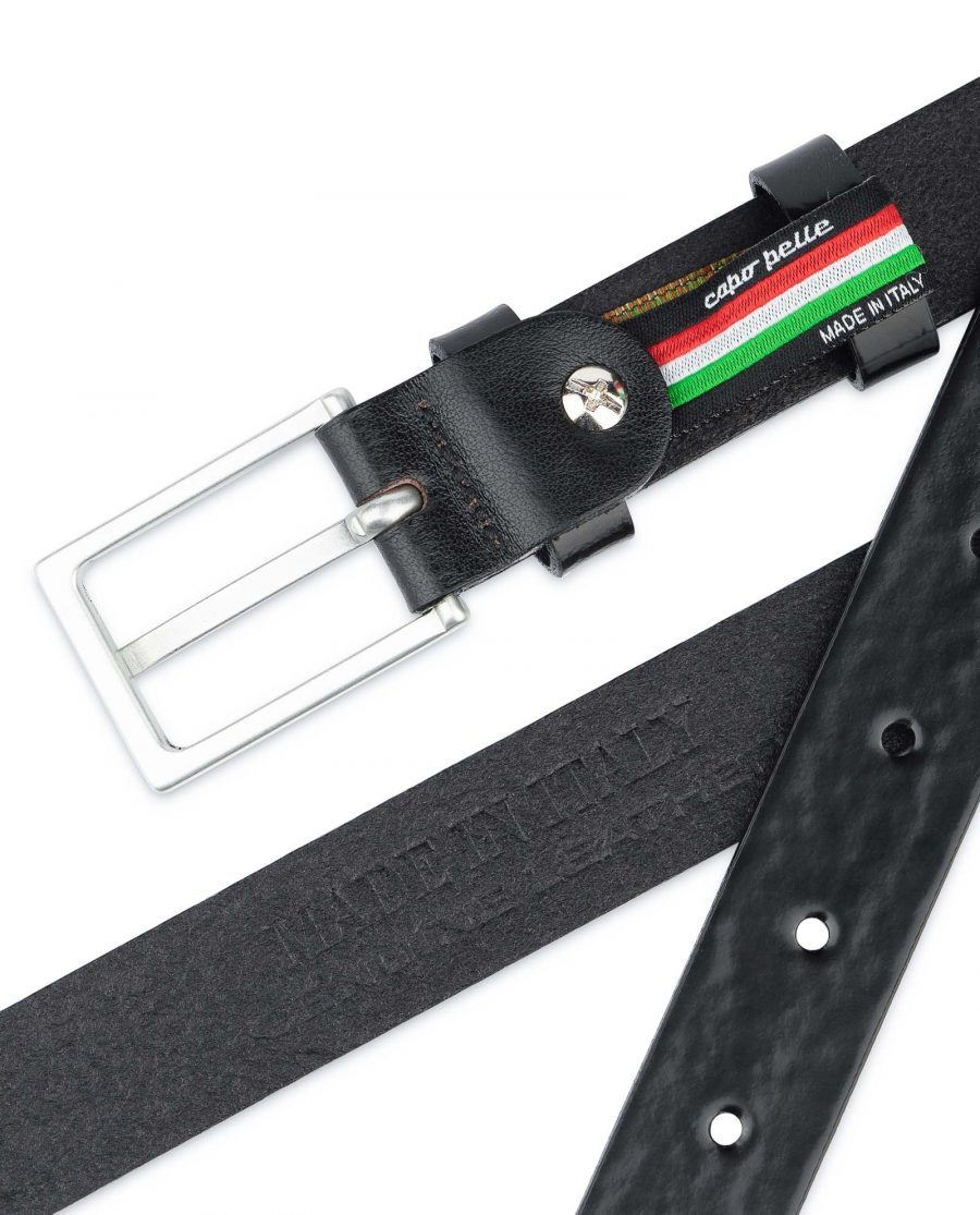 Black-Patent-Leather-Belt-Thin-1-inch-Stamp