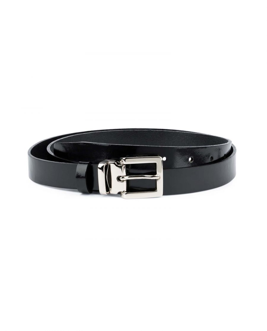 Black-Patent-Leather-Belt-Womens-1-inch-Capo-Pelle