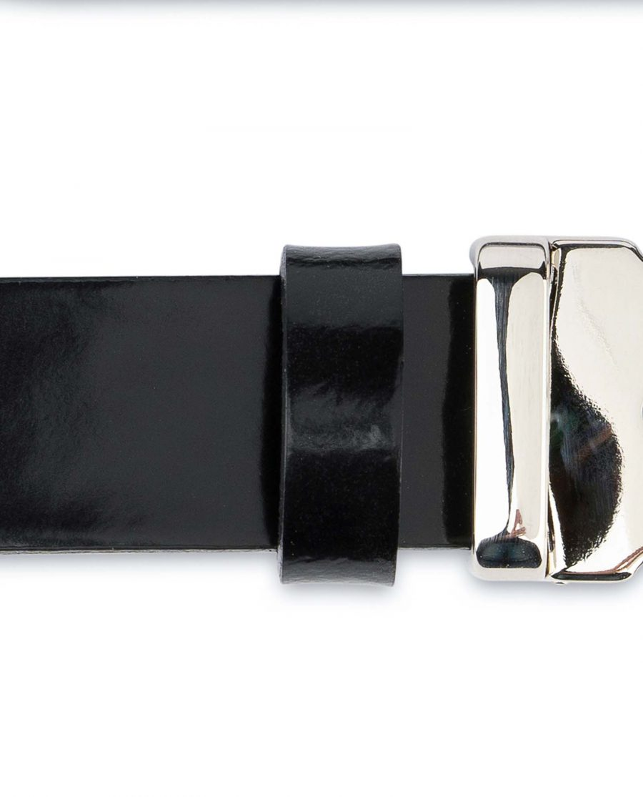 Black-Patent-Leather-Belt-Womens-1-inch-Quality