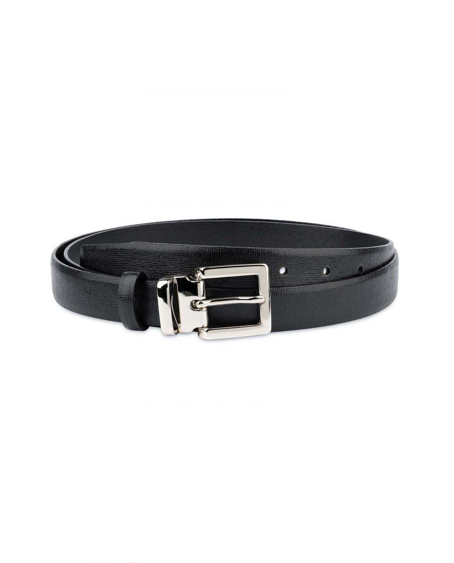Black-Womens-Belts-For-Dresses-Saffiano-Leather-Capo-Pelle