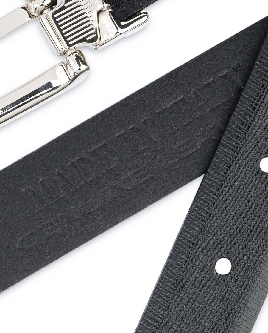 Black-Womens-Belts-For-Dresses-Saffiano-Leather-Made-in-Italy