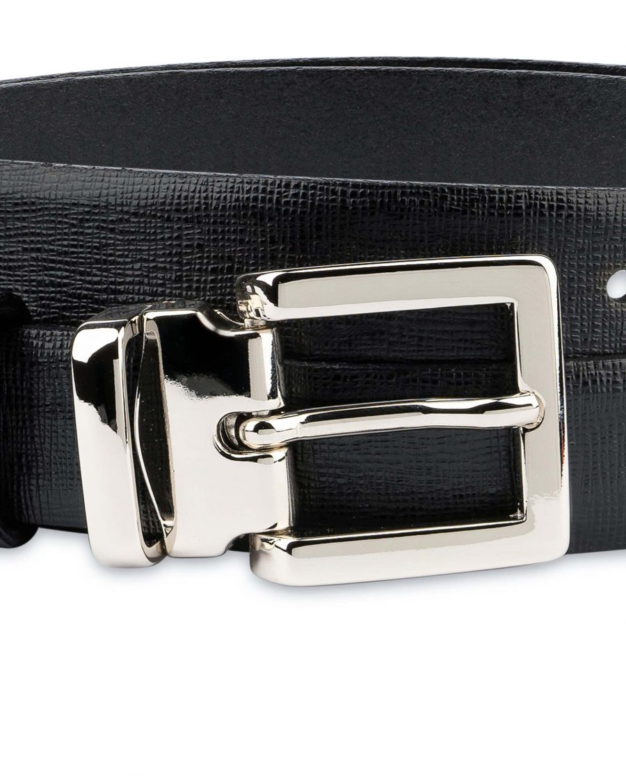 Black-Womens-Belts-For-Dresses-Saffiano-Leather-Square-buckle