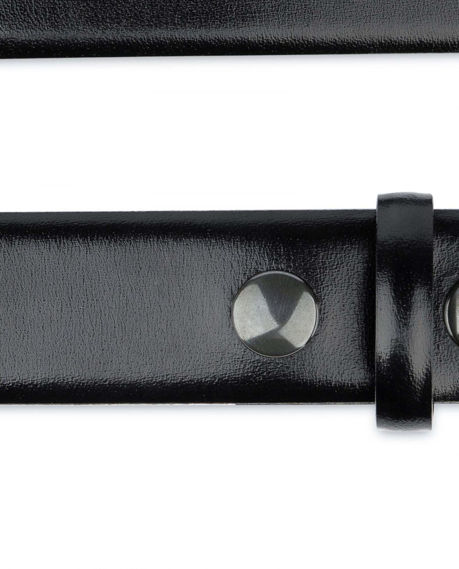 Black-leather-belt-With-no-buckle-Snap-on-YKK