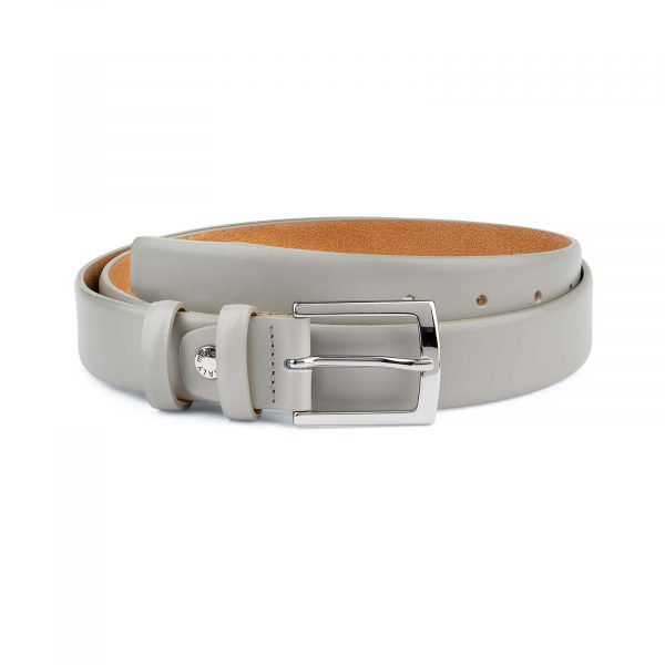 Grey-Leather-Belt-Mens-1-1-8-inch-Wide-Capo-Pelle