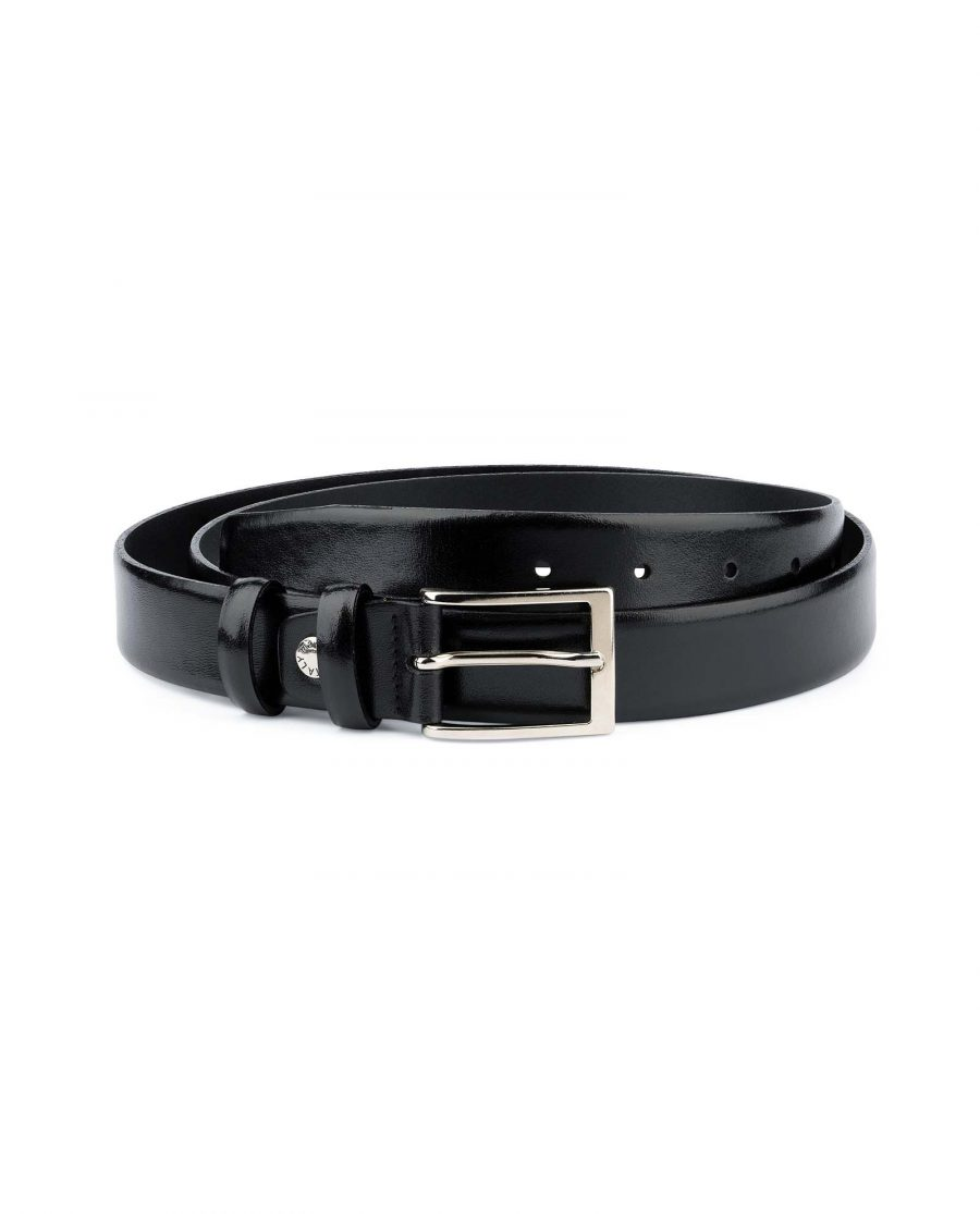 Mens-Black-Leather-Belt-With-Silver-Buckle-Capo-Pelle