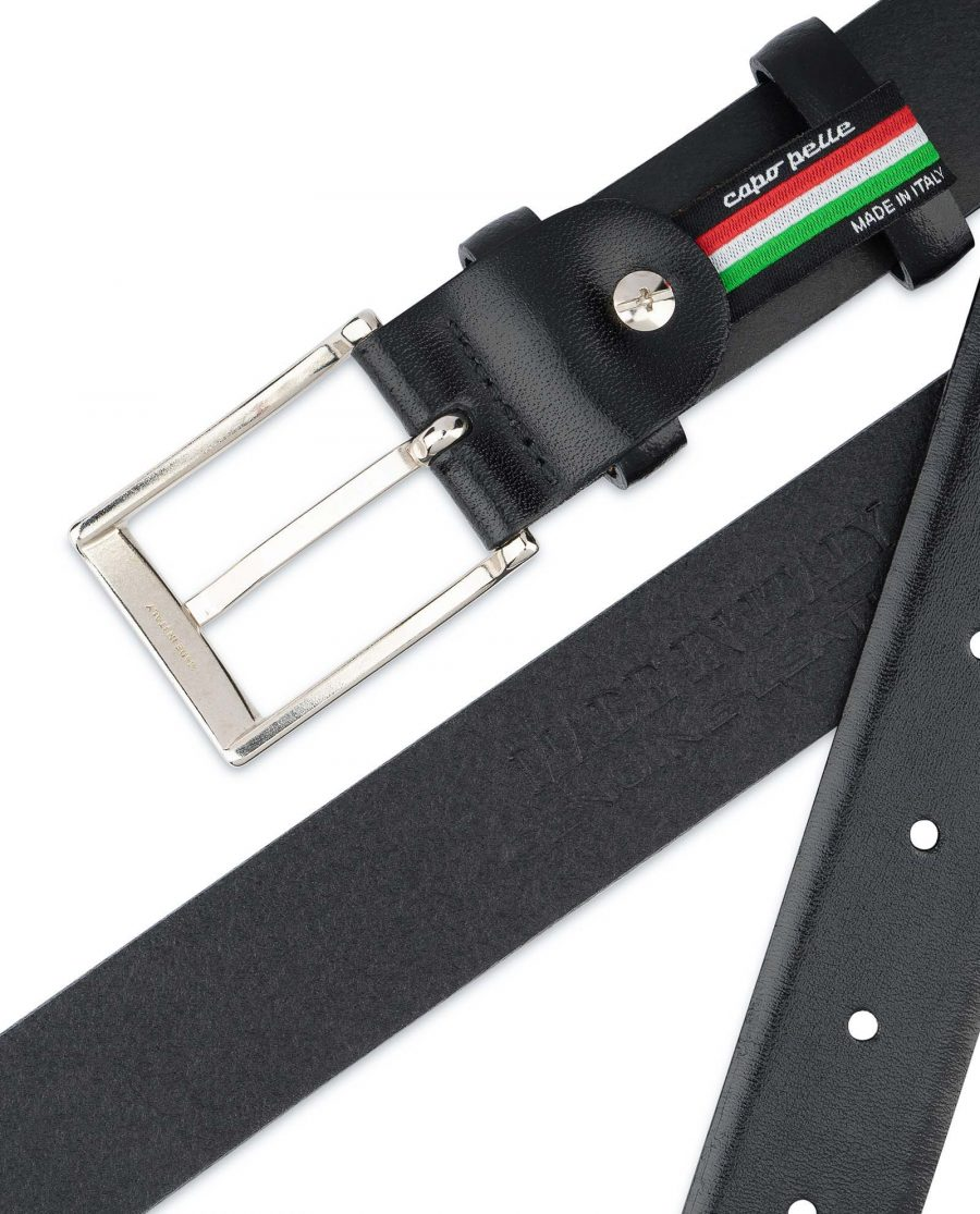 Mens-Black-Leather-Belt-With-Silver-Buckle-Made-in-Italy