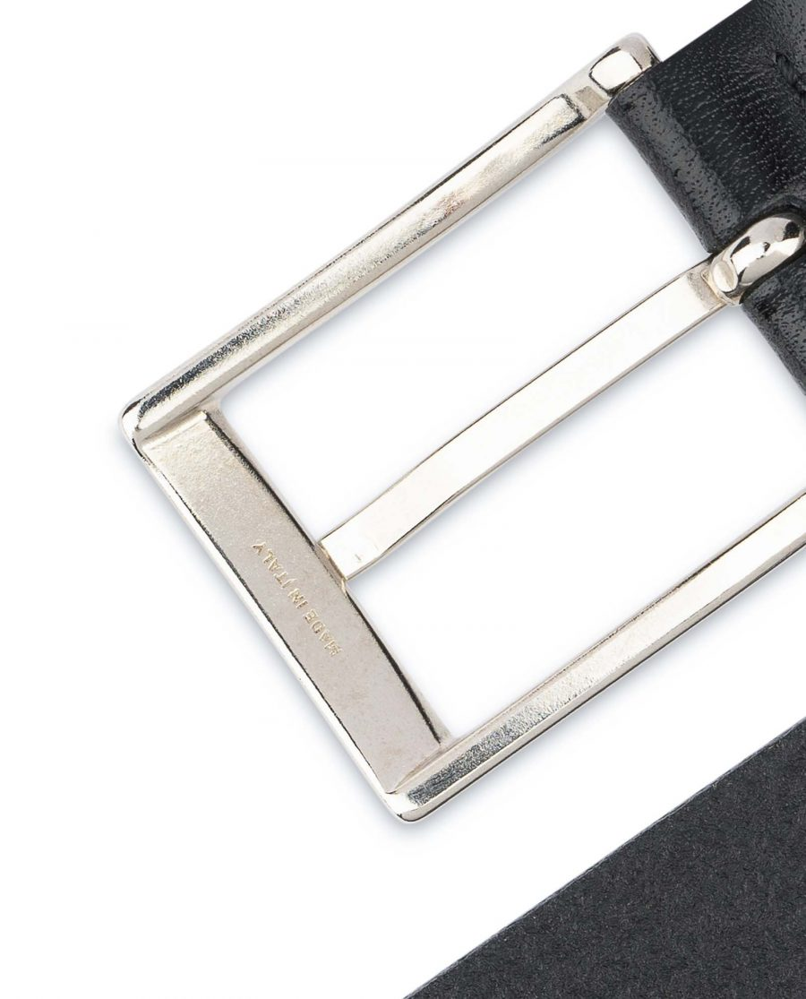 Mens-Black-Leather-Belt-With-Silver-Buckle-Nickel
