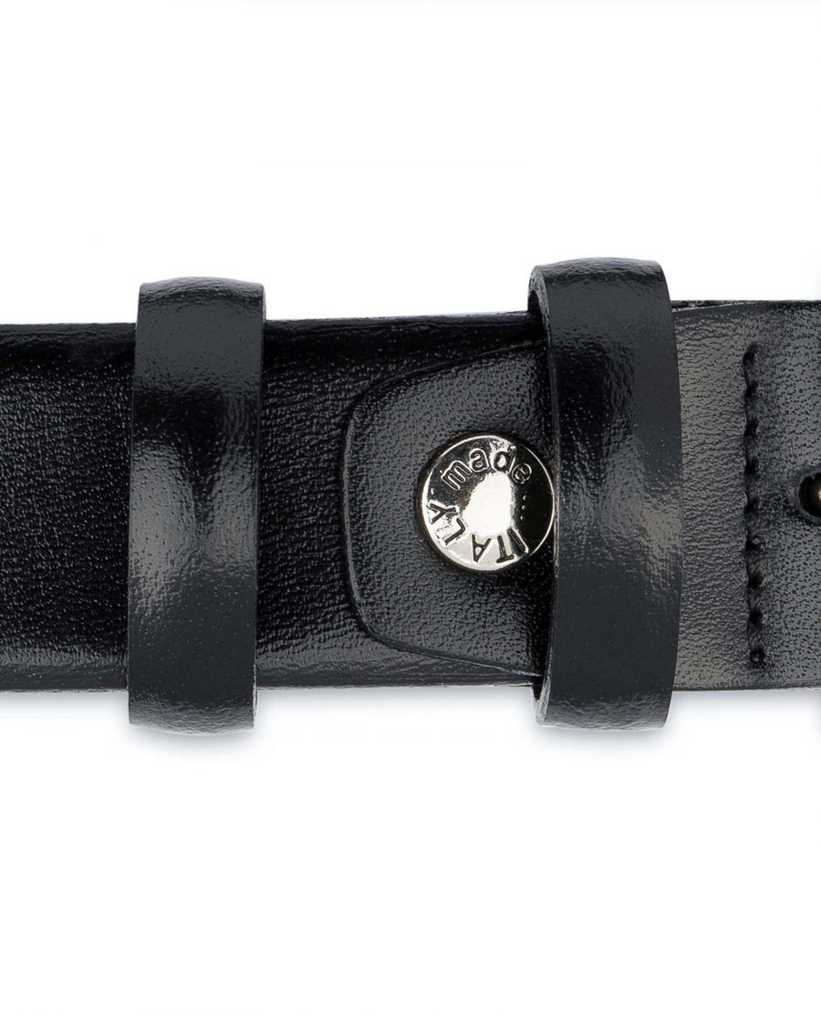 Mens-Black-Leather-Belt-With-Silver-Buckle-Screw