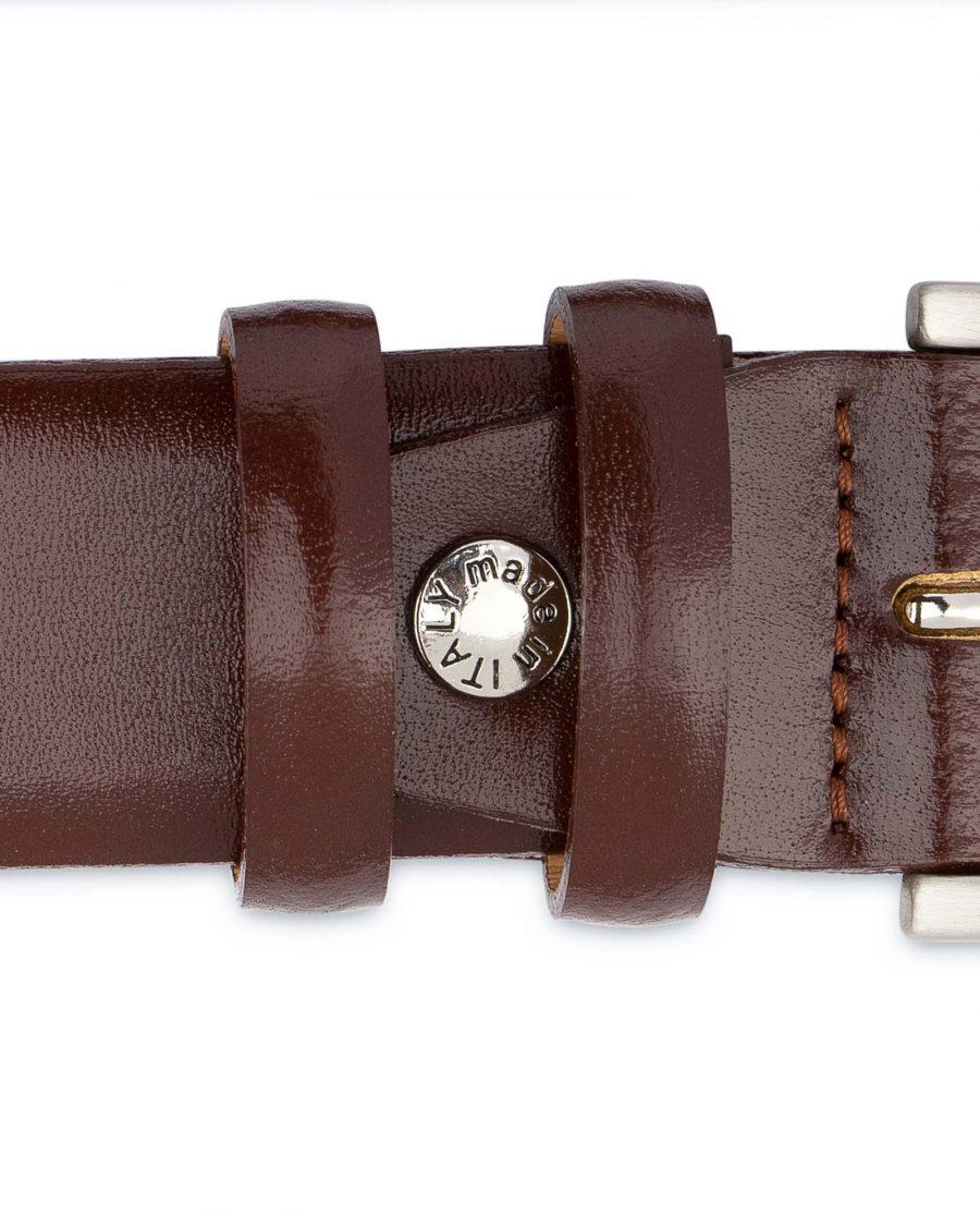 Mens-Cognac-Belt-Genuine-Leather-Brown