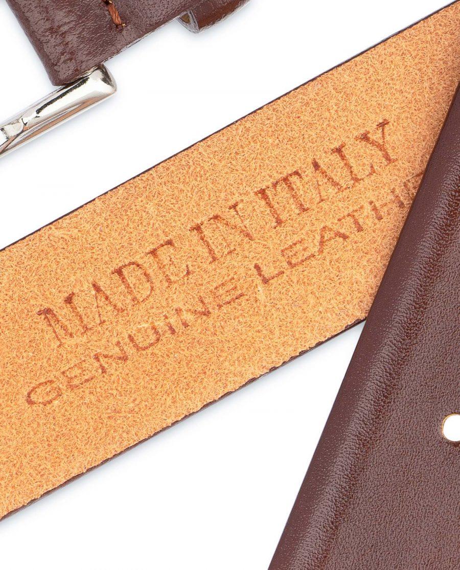 Mens-Cognac-Belt-Genuine-Leather-Hot-stamp