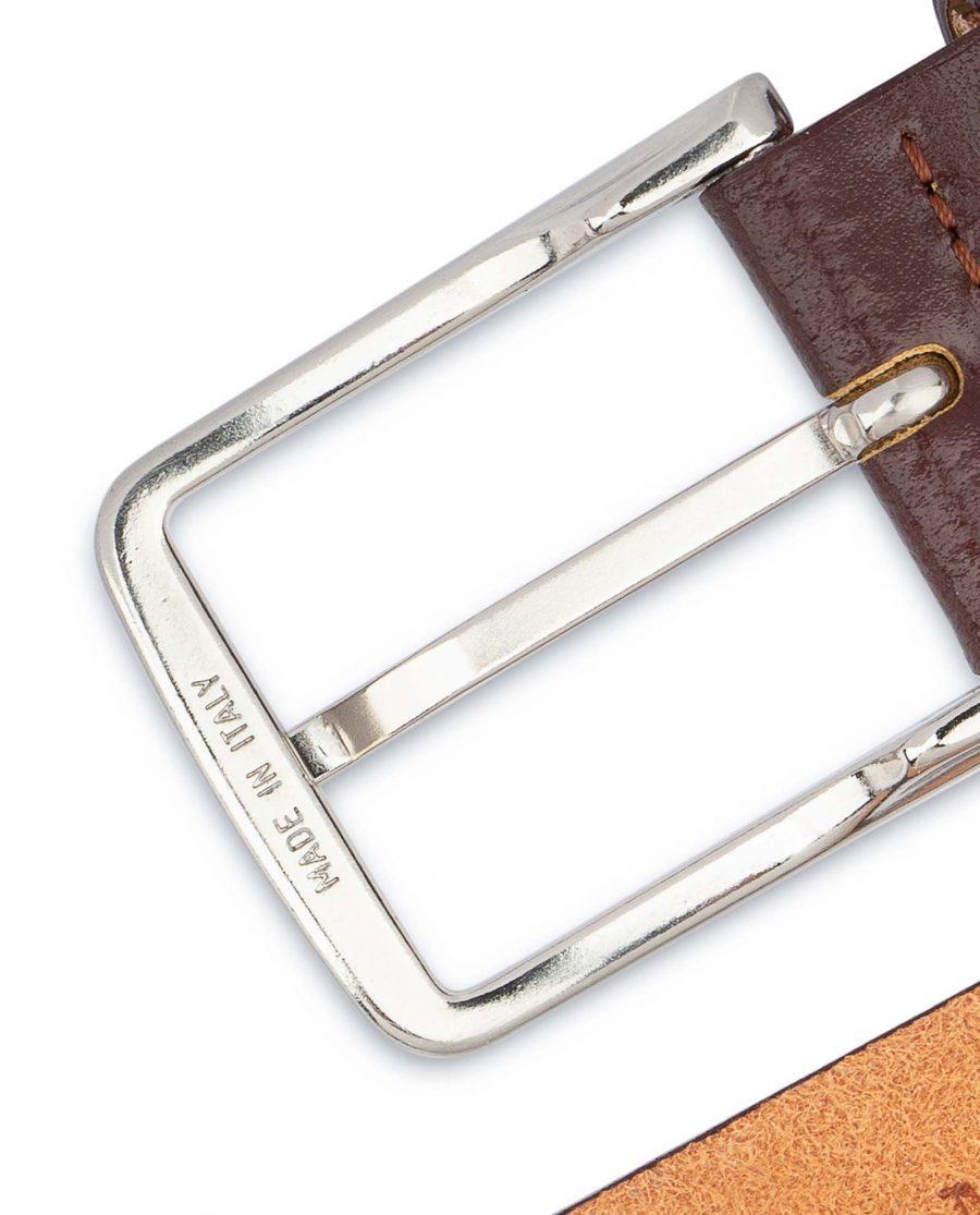 Mens-Cognac-Belt-Genuine-Leather-Italian-buckle