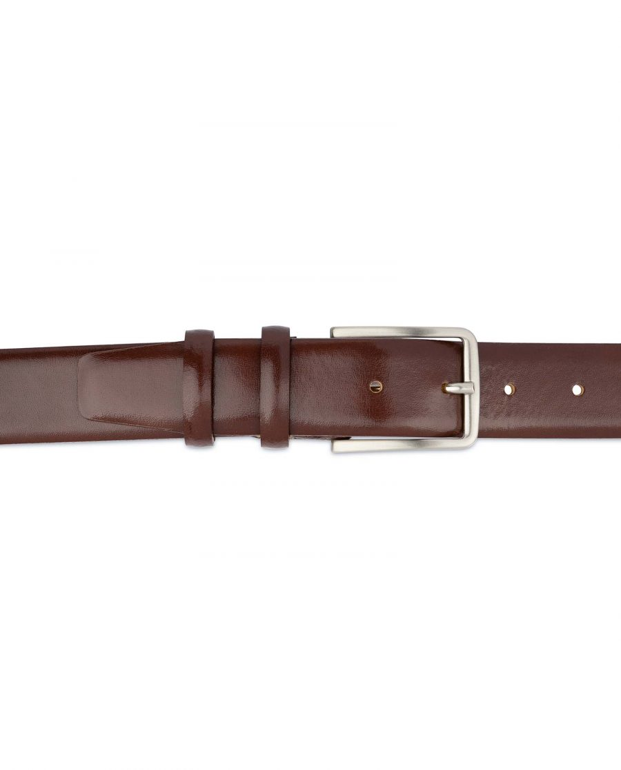 Mens-Cognac-Belt-Genuine-Leather-On-pants