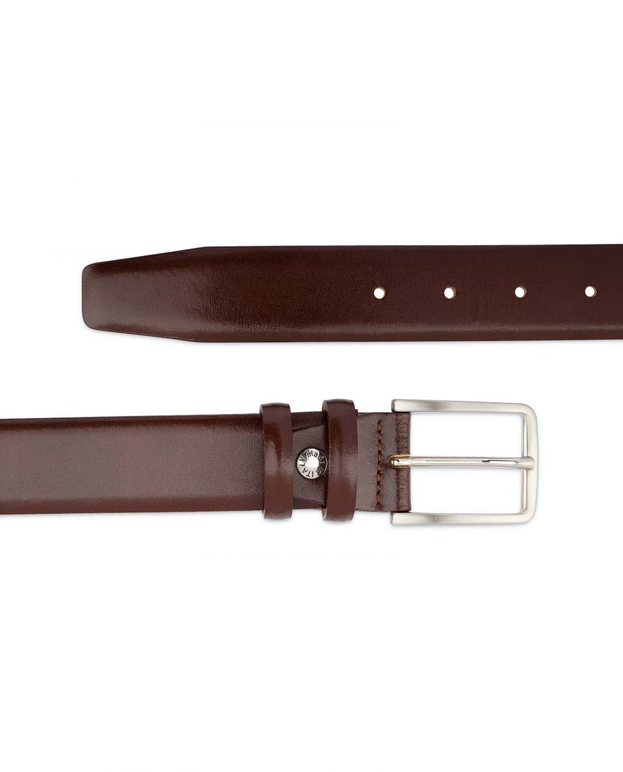 Mens-Cognac-Belt-Genuine-Leather-Top-quality