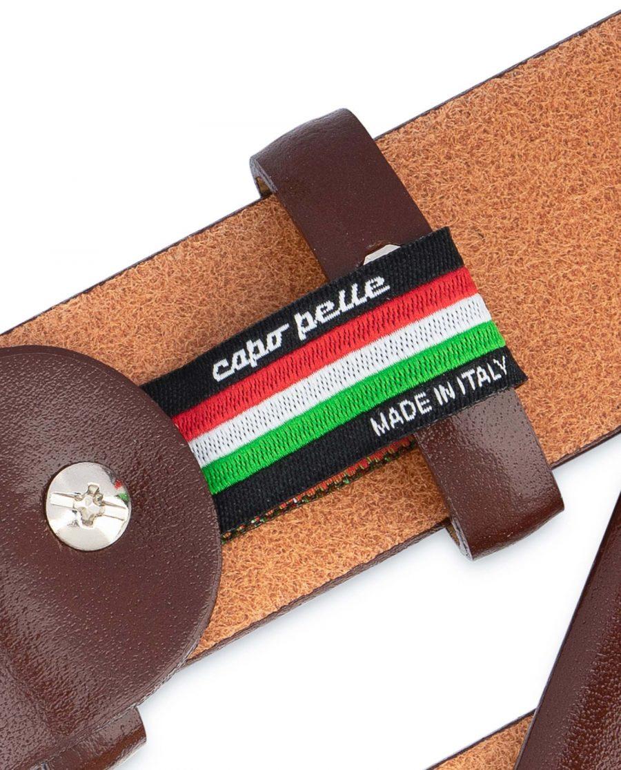 Mens-Cognac-Belt-Genuine-Leather-Woven-label