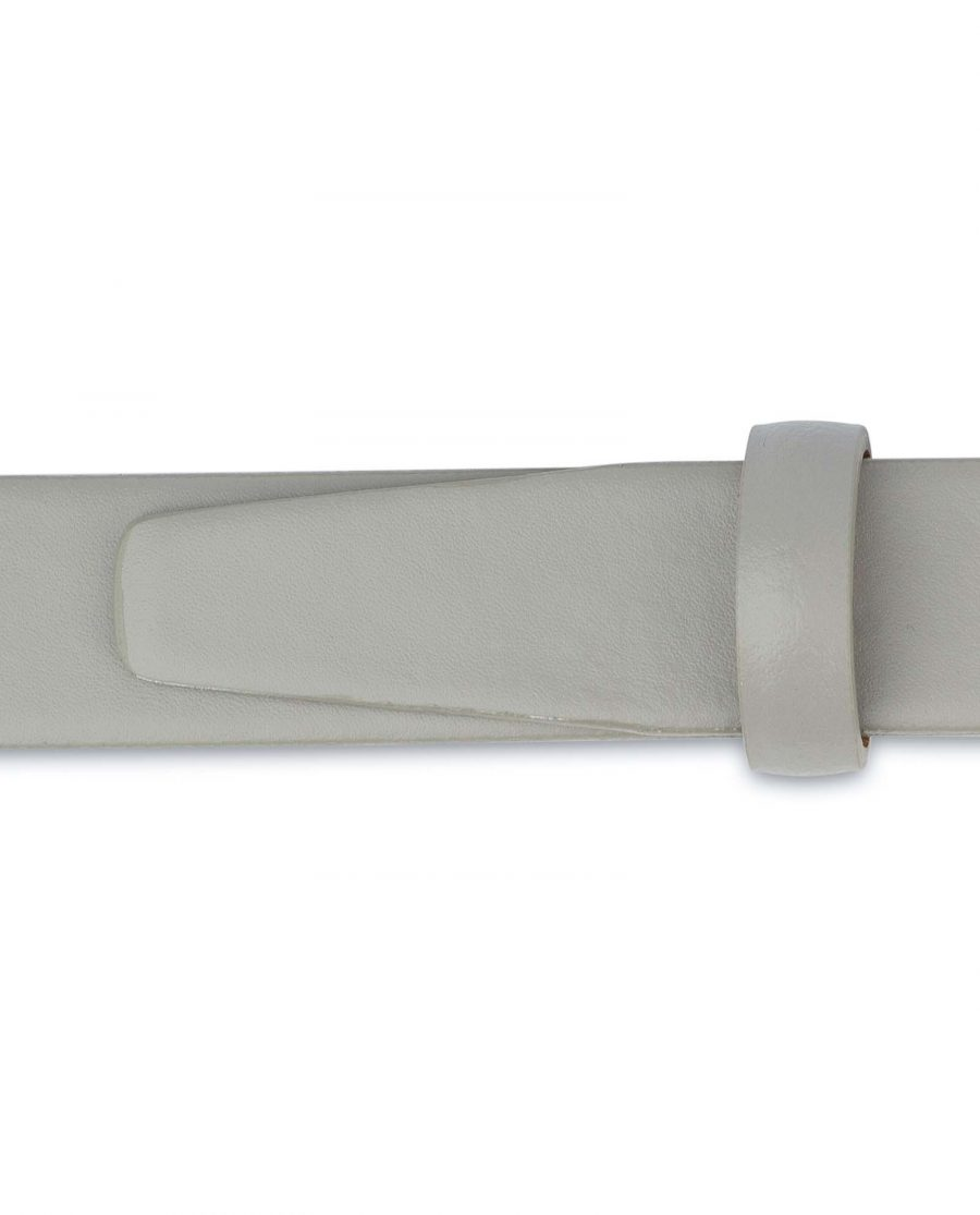 Mens-Grey-Leather-Belt-Thin-1-inch-Loops