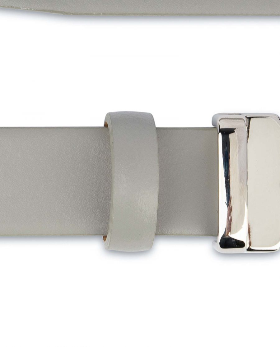 Mens-Grey-Leather-Belt-Thin-1-inch-Smooth