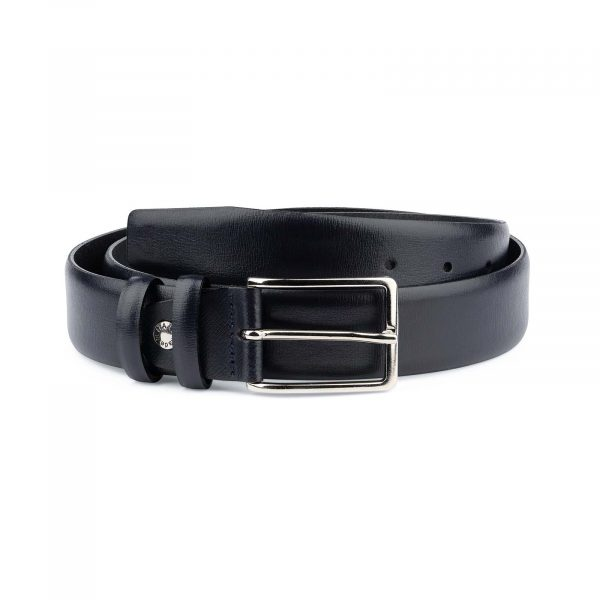 Mens-Navy-Belt-Dark-Blue-Leather-Capo-Pelle