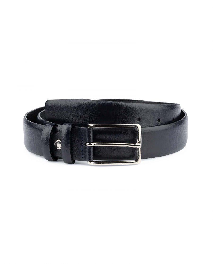 Mens-Navy-Belt-Dark-Blue-Leather-Capo-Pelle
