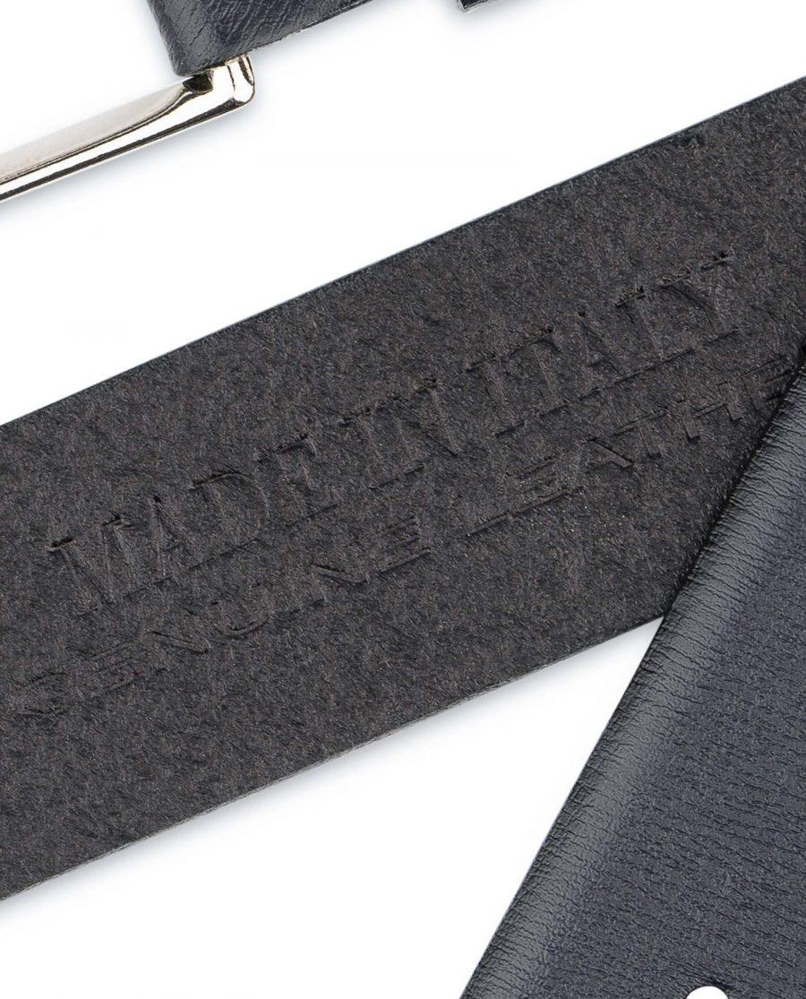 Mens-Navy-Belt-Dark-Blue-Leather-Genuine