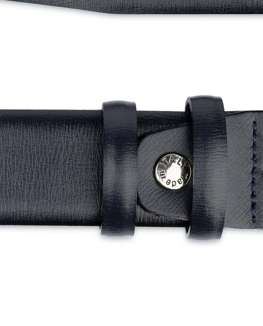 Mens-Navy-Belt-Dark-Blue-Leather-Screw