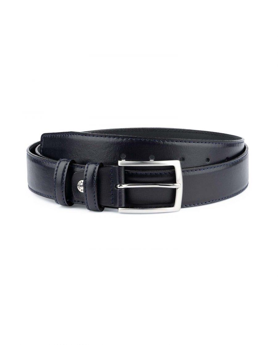 Mens-Navy-Blue-Belt-Genuine-Leather-Capo-Pelle