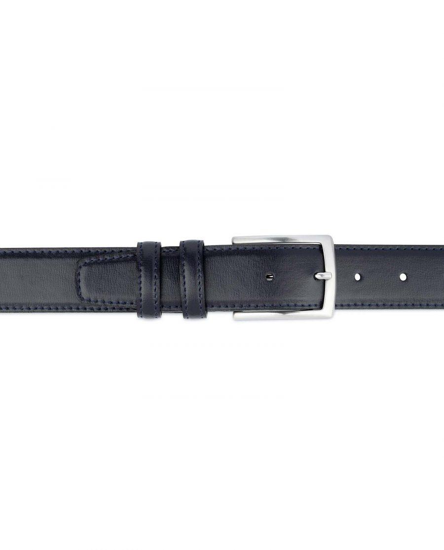 Mens-Navy-Blue-Belt-Genuine-Leather-On-pants