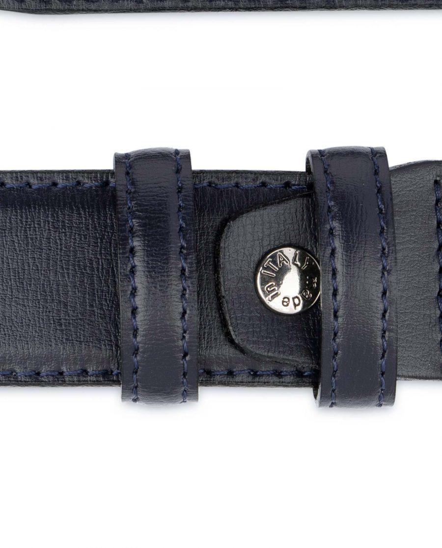 Mens-Navy-Blue-Belt-Genuine-Leather-Screw