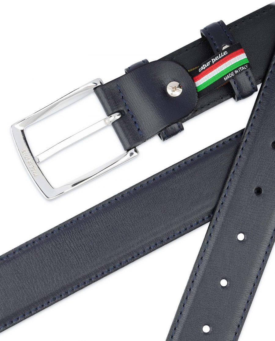 Mens-Navy-Blue-Belt-Genuine-Leather-Top-quality