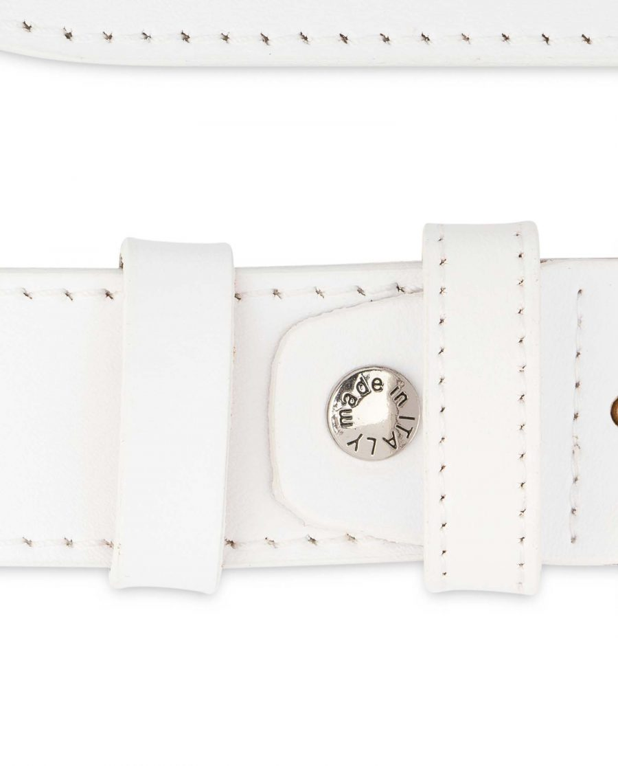 Mens-White-Belt-Genuine-Leather-1-3-8-inch-Screw