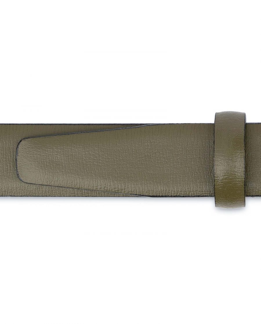 Olive-Green-Belt-For-Dresses-1-inch-Leather-Loops