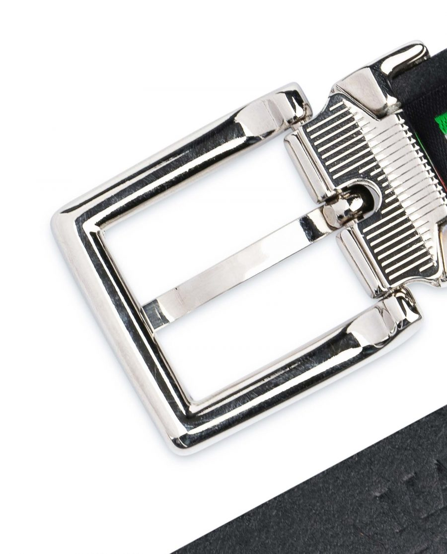 Olive-Green-Belt-For-Dresses-1-inch-Leather-Nickel-silver