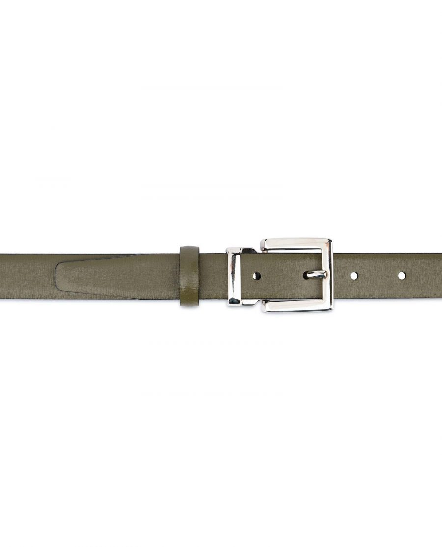 Olive-Green-Belt-For-Dresses-1-inch-Leather-On-women