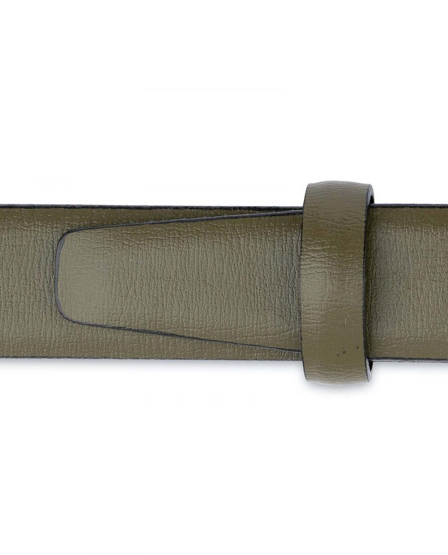 Olive-Green-Belt-Mens-Thin-1-inch-Loops