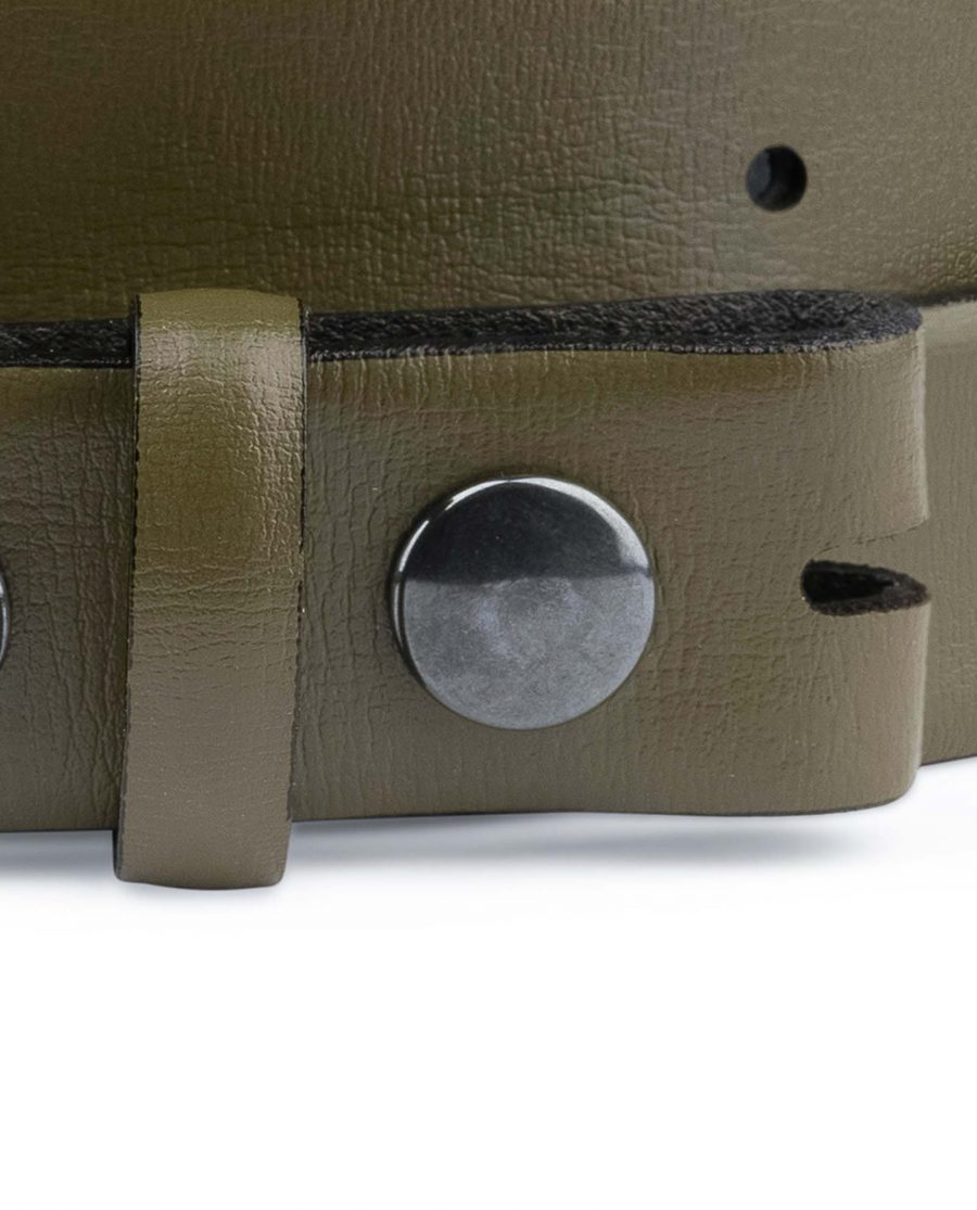 Olive-Green-Belt-Without-Buckle-Snap-on-30-mm-Attachment