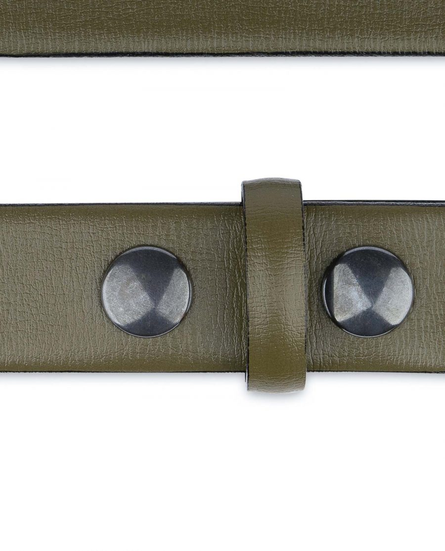 Olive-Green-Belt-Without-Buckle-Snap-on-30-mm-Loops