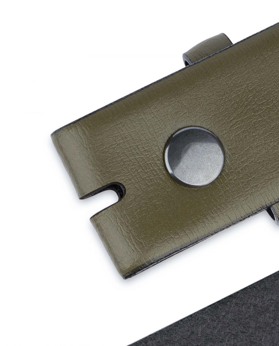 Olive-Green-Belt-no-Buckle-35-mm-Button