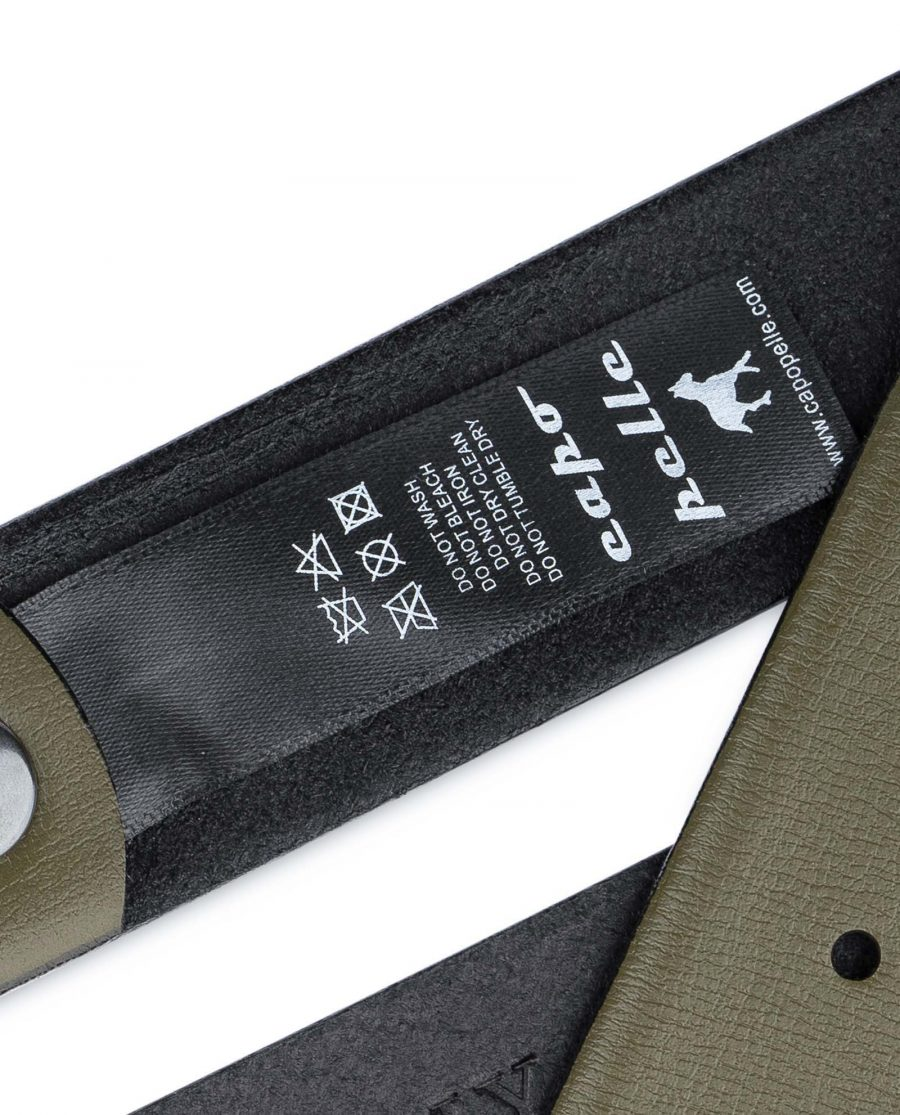 Olive-Green-Belt-no-Buckle-35-mm-Tag