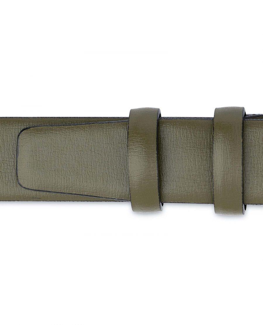 Olive-Green-Leather-Belt-Mens-1-1-8-inch-Loop